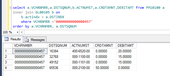 Figure 6: TSQL to show the underlying data has changed