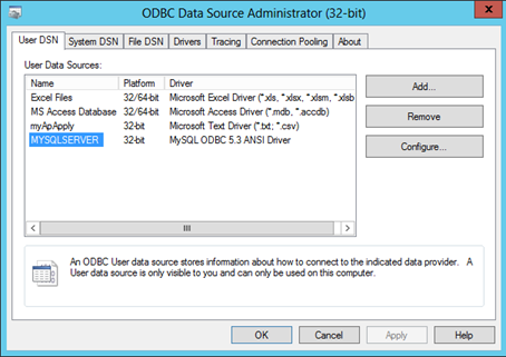 32 bit ODBC driver for MS Access ( .accdb) is missing in Win7 64bit