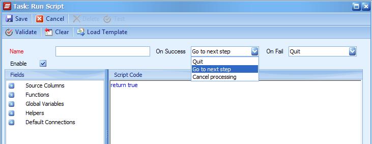Task: Run Script
