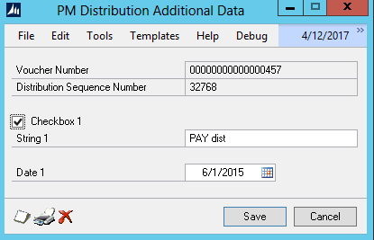 Figure 7: Extender data is unchanged in the UI