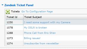 ZD Ticket Panel