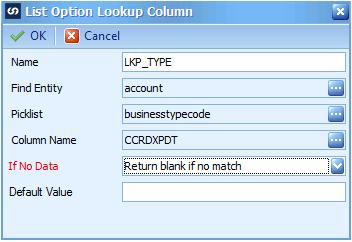 List Option Lookup