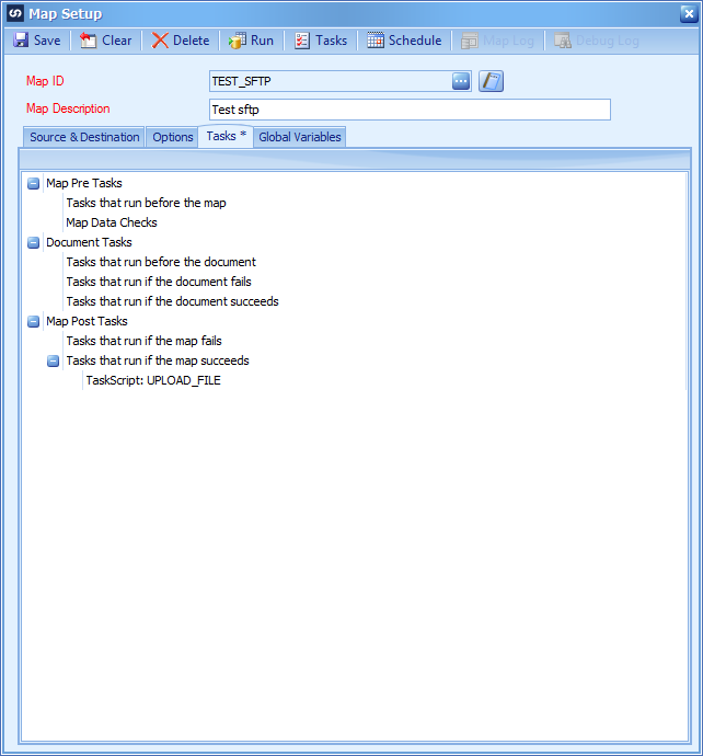 Using WINSCP and a task to upload or download files from an SFTP