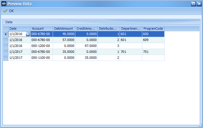 Creating General Ledger Transaction with Analytical Account