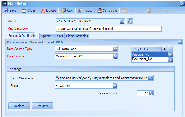 Dynamics NAV Excel Template - General Journal | eOne Solutions