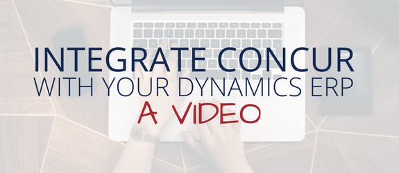 Video: Integrate SAP Concur with Your Microsoft Dynamics ERP