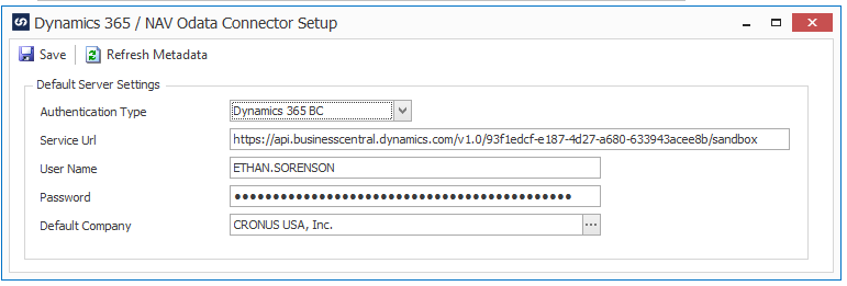 Connecting to the Microsoft Dynamics 365 Business Central