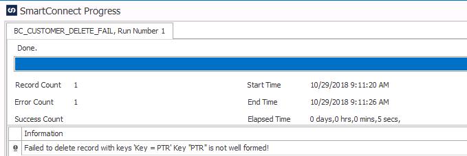 Business Central error- Key