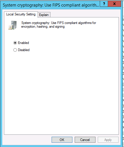 This implementation is not part of the Windows Platform FIPS