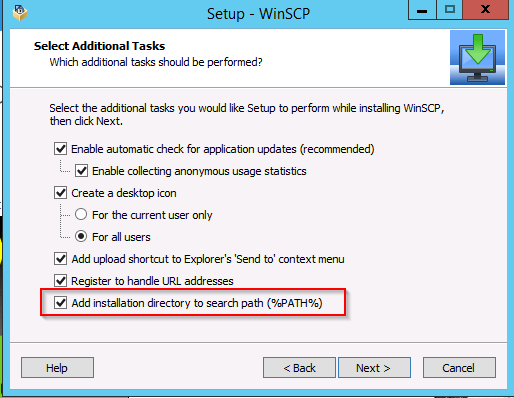 Using WINSCP and a task to upload or download files from an