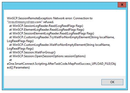 WinSCP error message