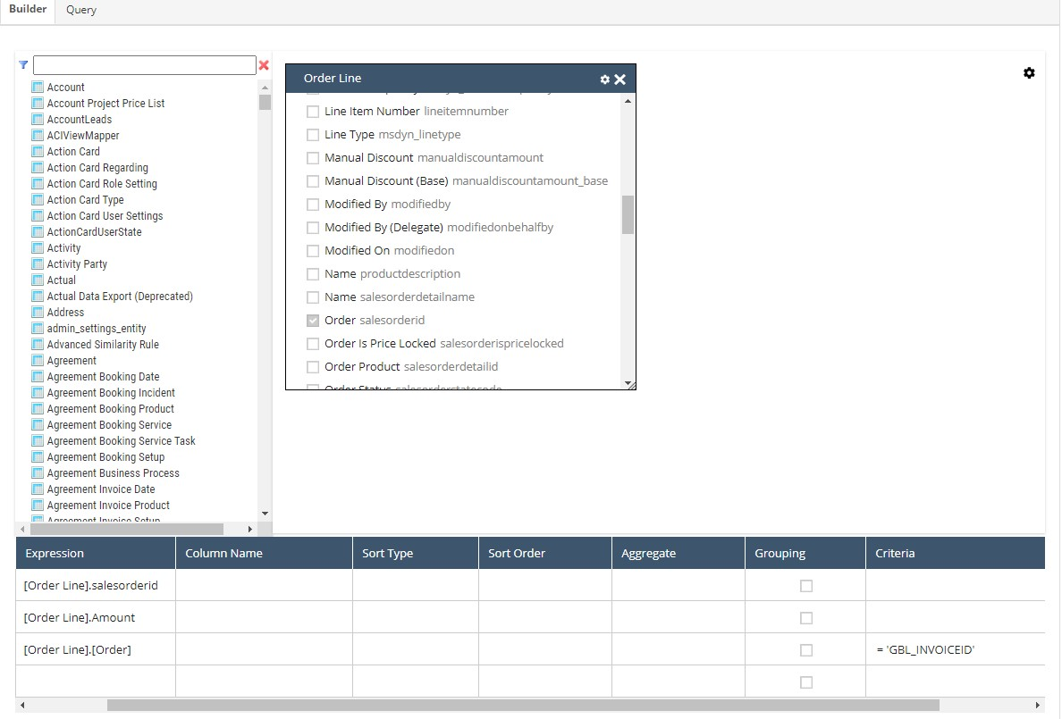 Netsuite Query using a Global Variable
