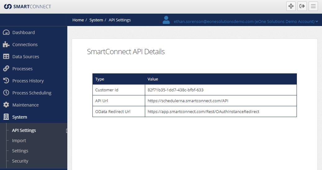 Image of API Settings