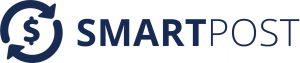 SmartPost - Full Blue Logo White Background